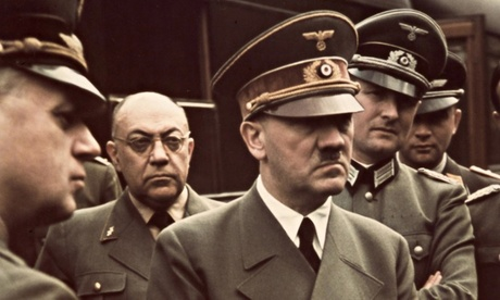 Hitler with his doctor Theodor Morell  Photograph Waddell Media via the Guardian