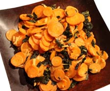 Carrots with ginger and kale copy