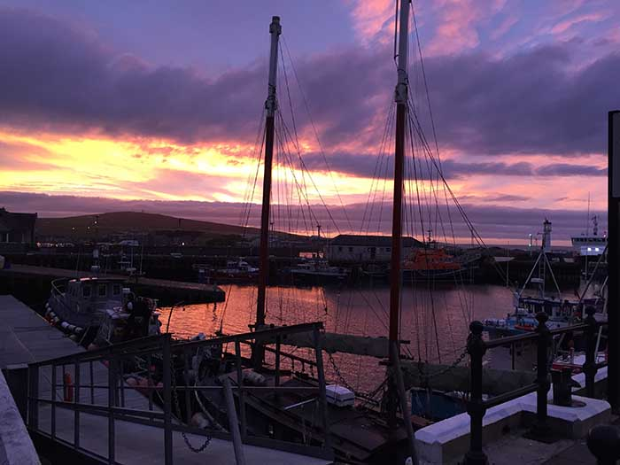 Kirkwall harbour at sunset 1 copy