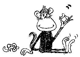 Monkey & peanuts