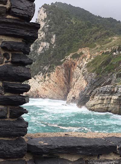 Portovenere sea thro arch