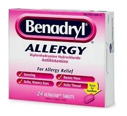 benadryl-antihistamine
