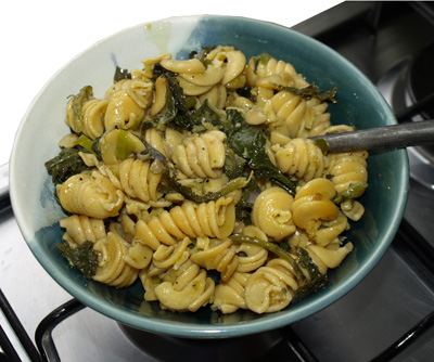 Pasta and greens